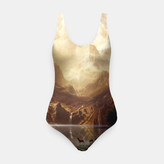 Among the Sierra Nevada, California by Albert Bierstadt Swimsuit thumbnail image
