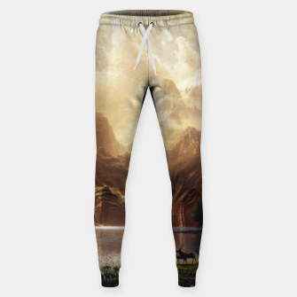 Among the Sierra Nevada, California by Albert Bierstadt Sweatpants thumbnail image
