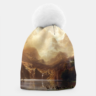 Among the Sierra Nevada, California by Albert Bierstadt Beanie thumbnail image