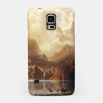Among the Sierra Nevada, California by Albert Bierstadt Samsung Case thumbnail image