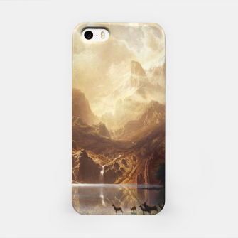 Miniaturka Among the Sierra Nevada, California by Albert Bierstadt iPhone Case, Live Heroes
