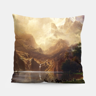 Thumbnail image of Among the Sierra Nevada, California by Albert Bierstadt Pillow, Live Heroes