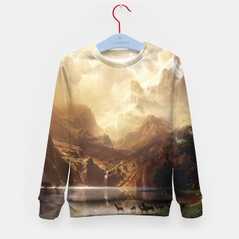 Thumbnail image of Among the Sierra Nevada, California by Albert Bierstadt Kid's sweater, Live Heroes