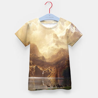 Thumbnail image of Among the Sierra Nevada, California by Albert Bierstadt Kid's t-shirt, Live Heroes