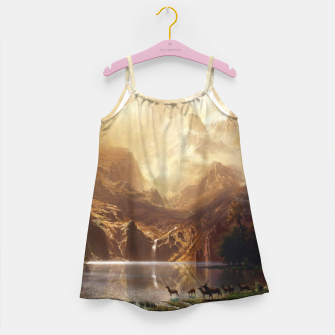 Thumbnail image of Among the Sierra Nevada, California by Albert Bierstadt Girl's dress, Live Heroes