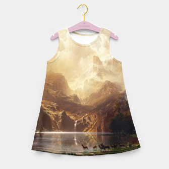 Thumbnail image of Among the Sierra Nevada, California by Albert Bierstadt Girl's summer dress, Live Heroes