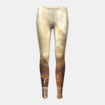 Miniaturka Among the Sierra Nevada, California by Albert Bierstadt Girl's leggings, Live Heroes