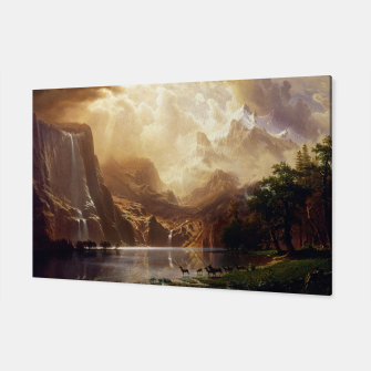 Among the Sierra Nevada, California by Albert Bierstadt Canvas thumbnail image