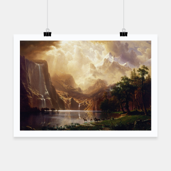 Thumbnail image of Among the Sierra Nevada, California by Albert Bierstadt Poster, Live Heroes