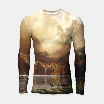 Among the Sierra Nevada, California by Albert Bierstadt Longsleeve rashguard  thumbnail image
