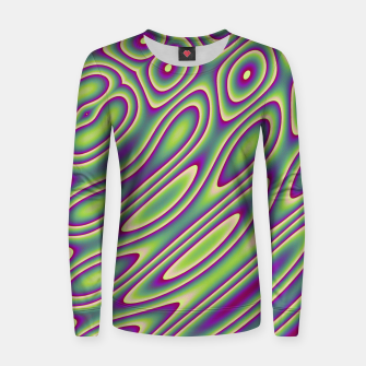 Thumbnail image of Purple Green Psychedelic Trip (LH070) Women sweater, Live Heroes