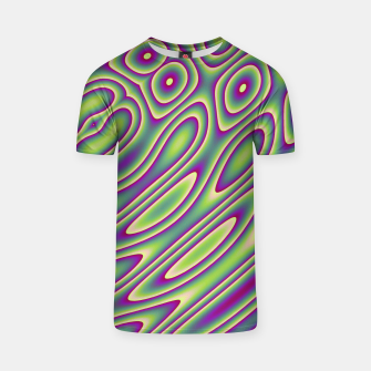 Miniatur Purple Green Psychedelic Trip (LH070) T-shirt, Live Heroes