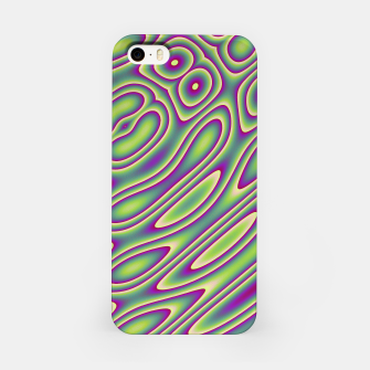 Miniatur Purple Green Psychedelic Trip (LH070) iPhone Case, Live Heroes