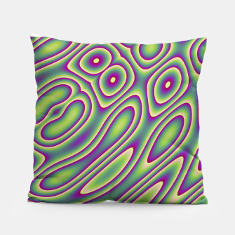 Miniatur Purple Green Psychedelic Trip (LH070) Pillow, Live Heroes