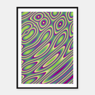 Miniatur Purple Green Psychedelic Trip (LH070) Framed poster, Live Heroes