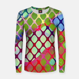 Imagen en miniatura de Colorful Abstract Mesh Grid (LH071) Women sweater, Live Heroes