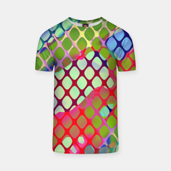 Miniatur Colorful Abstract Mesh Grid (LH071) T-shirt, Live Heroes
