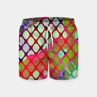 Imagen en miniatura de Colorful Abstract Mesh Grid (LH071) Swim Shorts, Live Heroes