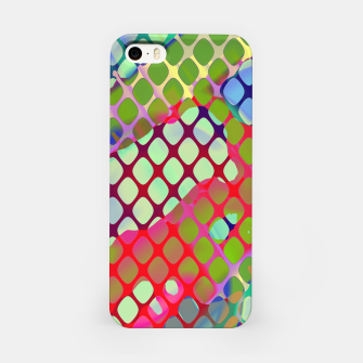 Miniatur Colorful Abstract Mesh Grid (LH071) iPhone Case, Live Heroes