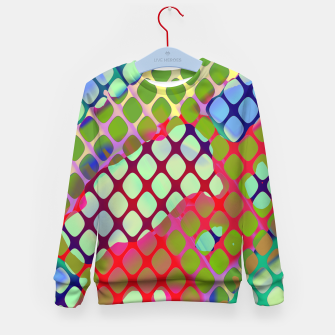 Imagen en miniatura de Colorful Abstract Mesh Grid (LH071) Kid's sweater, Live Heroes