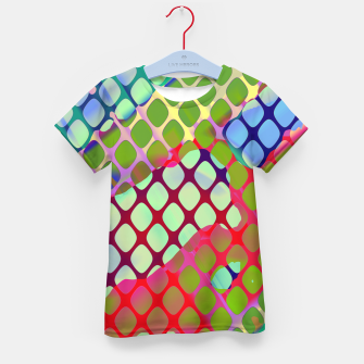 Imagen en miniatura de Colorful Abstract Mesh Grid (LH071) Kid's t-shirt, Live Heroes