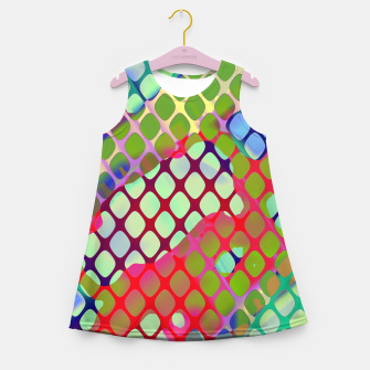 Thumbnail image of Colorful Abstract Mesh Grid (LH071) Girl's summer dress, Live Heroes