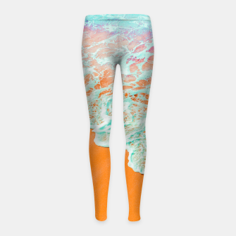 Miniature de image de Coral Shore Girl's leggings, Live Heroes