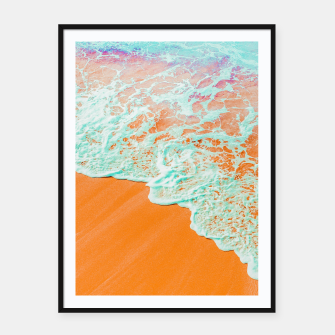 Miniatur Coral Shore Framed poster, Live Heroes