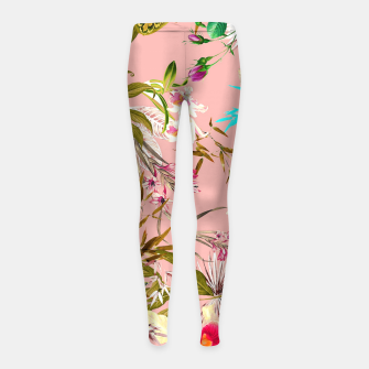 Thumbnail image of Gardenia Girl's leggings, Live Heroes