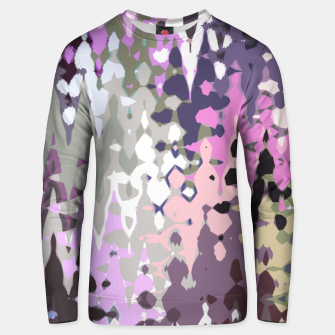 Thumbnail image of Violet shades wood, abstract geometric jagged shapes, sharp forms Unisex sweater, Live Heroes
