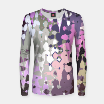 Imagen en miniatura de Violet shades wood, abstract geometric jagged shapes, sharp forms Women sweater, Live Heroes