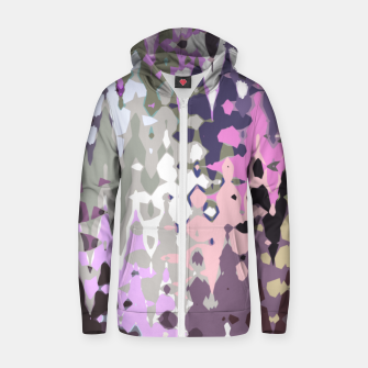 Thumbnail image of Violet shades wood, abstract geometric jagged shapes, sharp forms Zip up hoodie, Live Heroes