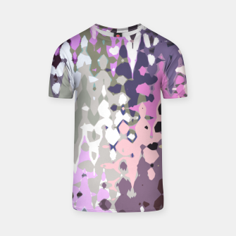 Miniatur Violet shades wood, abstract geometric jagged shapes, sharp forms T-shirt, Live Heroes