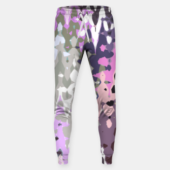 Thumbnail image of Violet shades wood, abstract geometric jagged shapes, sharp forms Sweatpants, Live Heroes