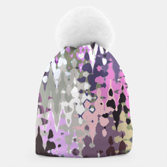 Thumbnail image of Violet shades wood, abstract geometric jagged shapes, sharp forms Beanie, Live Heroes