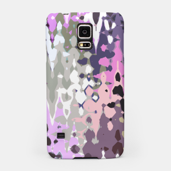 Thumbnail image of Violet shades wood, abstract geometric jagged shapes, sharp forms Samsung Case, Live Heroes