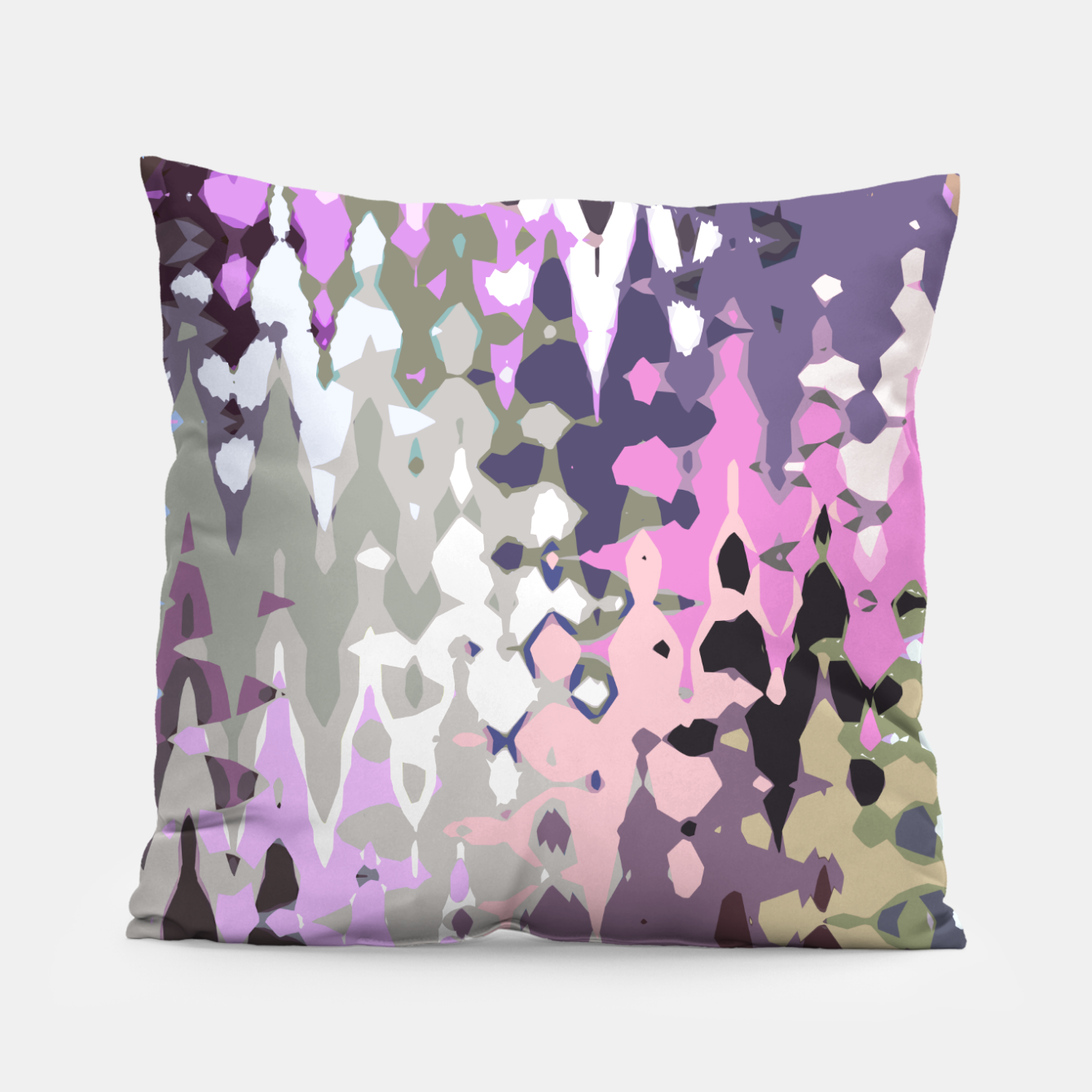 Image of Violet shades wood, abstract geometric jagged shapes, sharp forms Pillow - Live Heroes