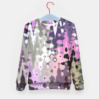 Thumbnail image of Violet shades wood, abstract geometric jagged shapes, sharp forms Kid's sweater, Live Heroes