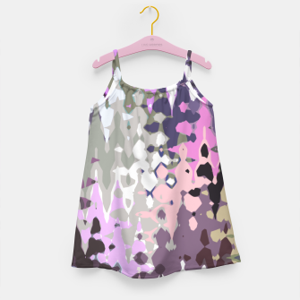 Thumbnail image of Violet shades wood, abstract geometric jagged shapes, sharp forms Girl's dress, Live Heroes