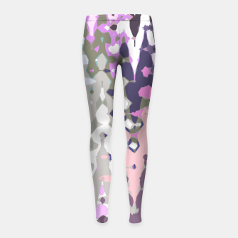 Thumbnail image of Violet shades wood, abstract geometric jagged shapes, sharp forms Girl's leggings, Live Heroes