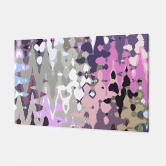 Miniatur Violet shades wood, abstract geometric jagged shapes, sharp forms Canvas, Live Heroes