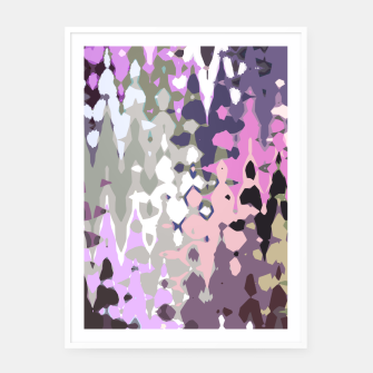 Thumbnail image of Violet shades wood, abstract geometric jagged shapes, sharp forms Framed poster, Live Heroes