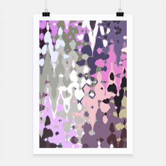 Miniatur Violet shades wood, abstract geometric jagged shapes, sharp forms Poster, Live Heroes