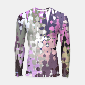 Thumbnail image of Violet shades wood, abstract geometric jagged shapes, sharp forms Longsleeve rashguard , Live Heroes
