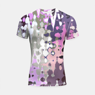 Miniatur Violet shades wood, abstract geometric jagged shapes, sharp forms Shortsleeve rashguard, Live Heroes