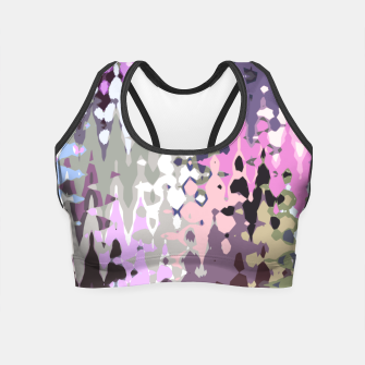 Thumbnail image of Violet shades wood, abstract geometric jagged shapes, sharp forms Crop Top, Live Heroes