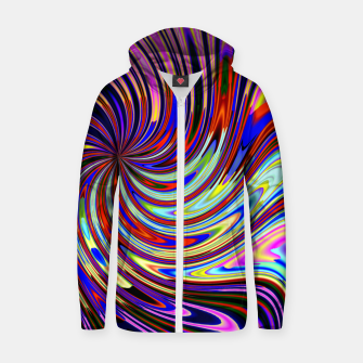 Psychedelic Swirl Hallucination (LH072) Zip up hoodie thumbnail image