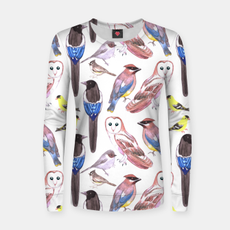 Imagen en miniatura de Wild birds watercolor  Women sweater, Live Heroes