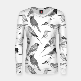 Imagen en miniatura de Black and white birds  Women sweater, Live Heroes