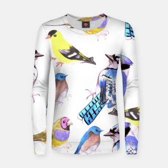 Imagen en miniatura de watercolor birds in tetrad color scheme Women sweater, Live Heroes